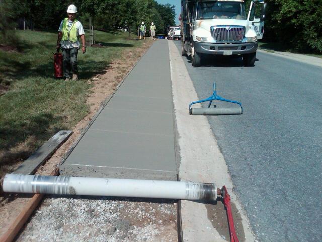 High Speed Concrete Sidewalks