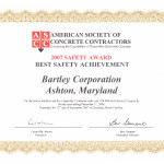 ASCC Safety Award - Best Safety Achievement
