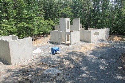 Above Grade Walls of Concrete Home Complete