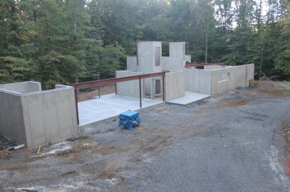 Concrete work at Concrete Home complete