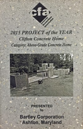 Award 2015 CFA Above Grade Concrete Home